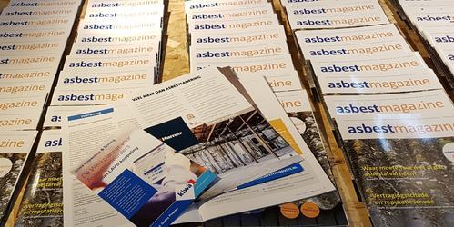 Asbestmagazine goed aanwezig tijdens beurs Asbestos2018