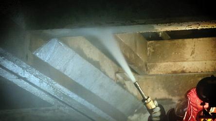 Waarschuwing gebruik asbesthoudend straalgrit (Abrasive ISO 11126N/CS/G)