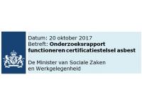 Onderzoek functioneren certificatiestelsel asbest