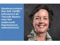 Staatssecretaris Van Ark (SZW) informeert de Tweede Kamer over het onderzoek functioneren asbeststelsel
